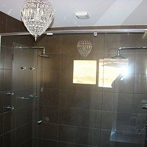 Share a shower in our luxury bathrooms in the High Country Lodges